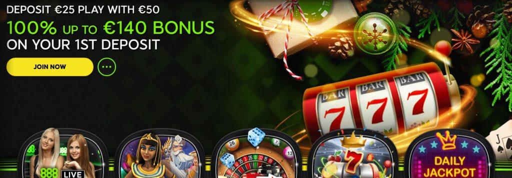 888 casino December offer