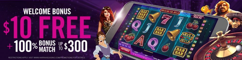 harrahs casino welcome bonus